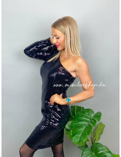 BLACK féloldalas ruha