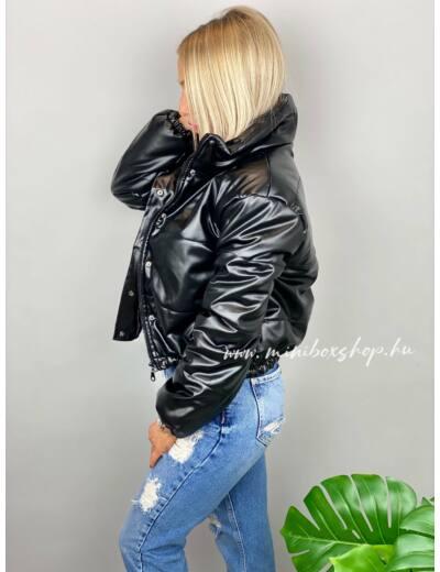TOKIO bőrhatású kabát