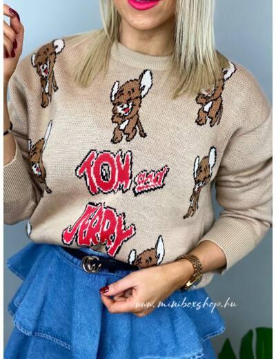 NUDE mintás pulóver