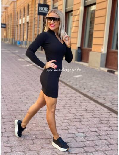 Női bordázott ruha_4
