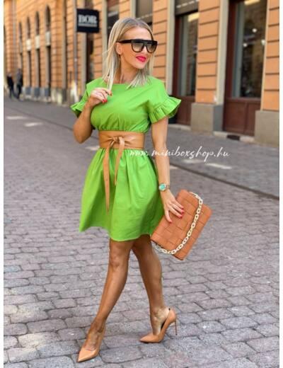 MATCHA olivazöld ruha