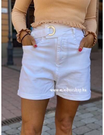 HIGH Waist fehér rövidnadrág
