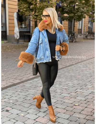 PLAY bőrhatású leggings