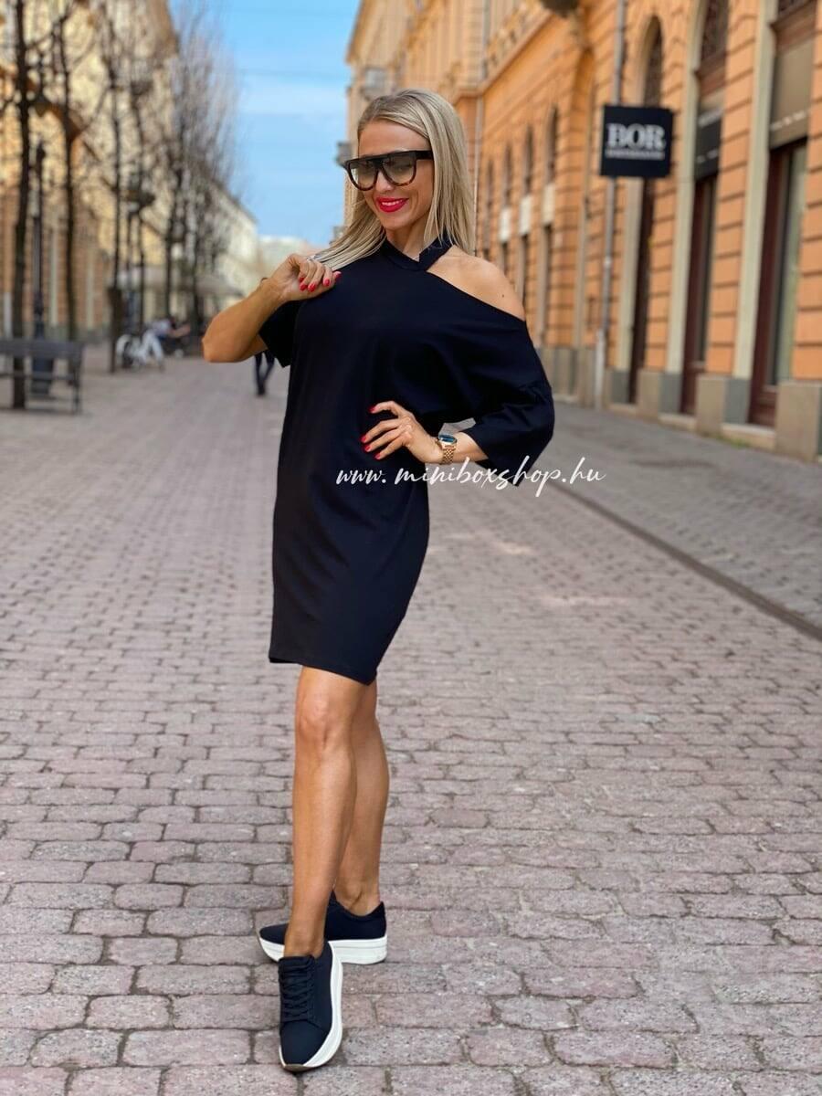 Fekete női pamuttunika