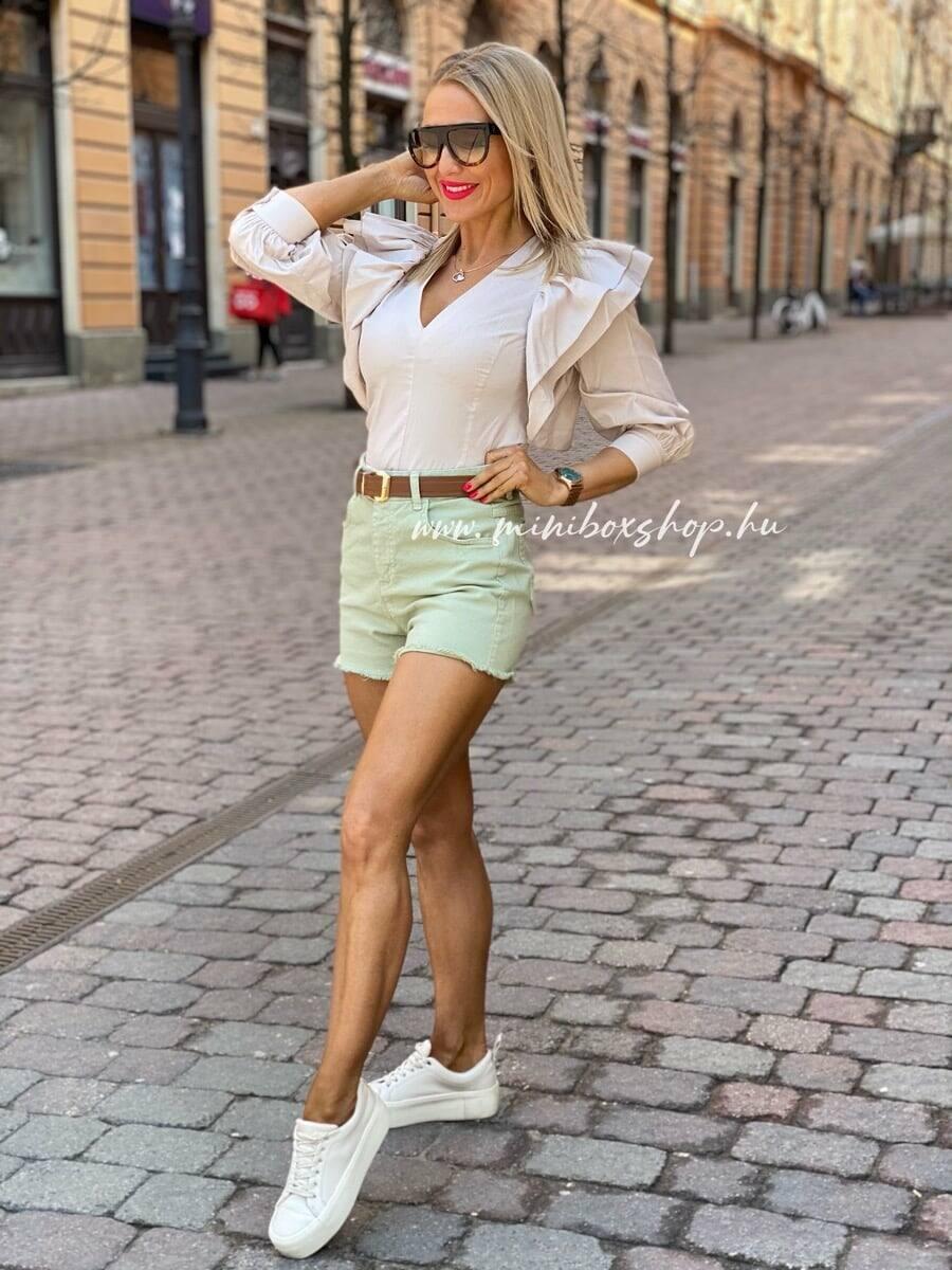 Almazöld színű farmershort