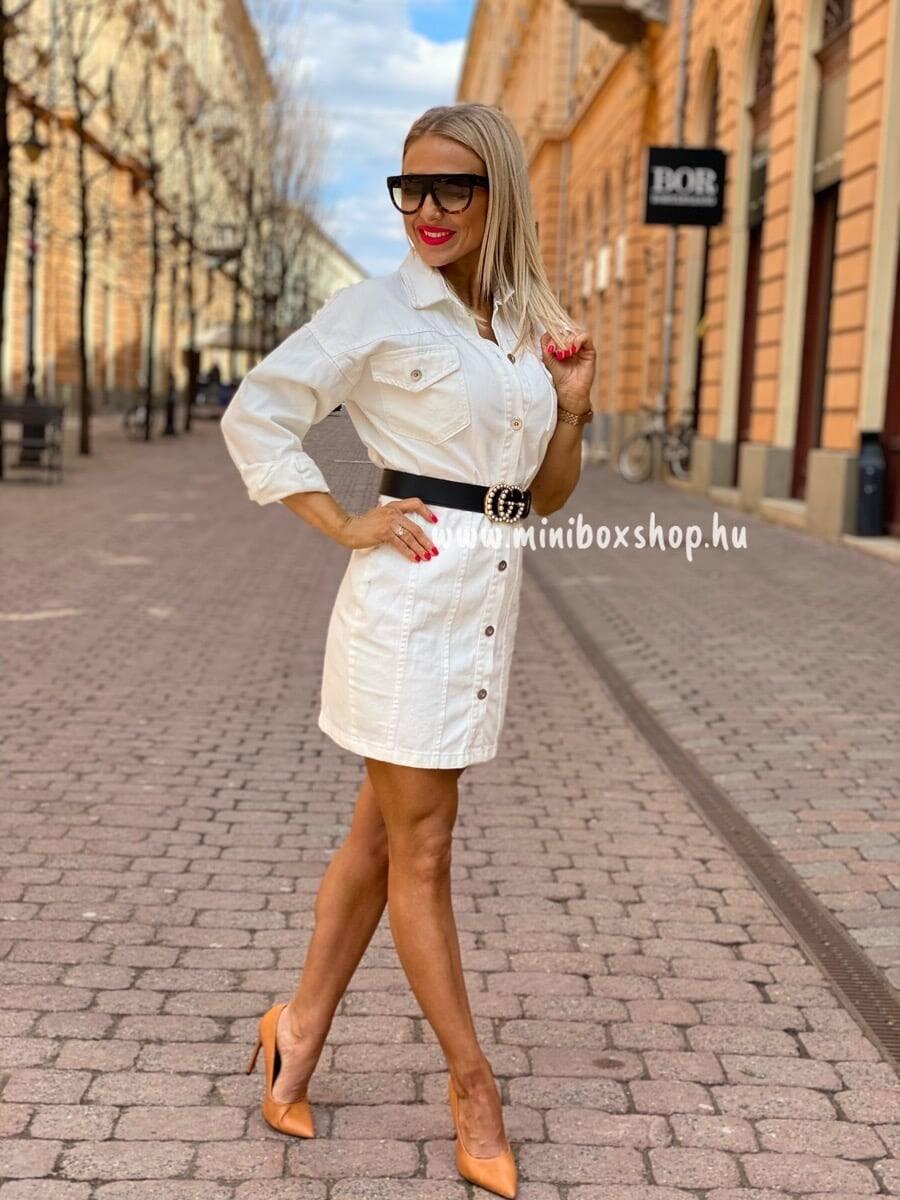 Női fehér farmerruha